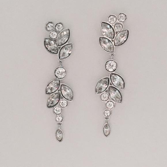 a2753eb4d Swarovski Jewelry | Diapason Pierced Earrings White Rhodium | Poshmark